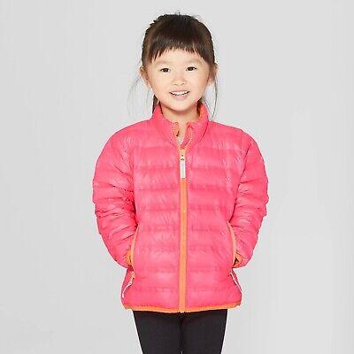 BE HAPPY Cat /& Jack Toddler Girls/' Denim Jacket Medium Blue 18M 2T 5T #r499