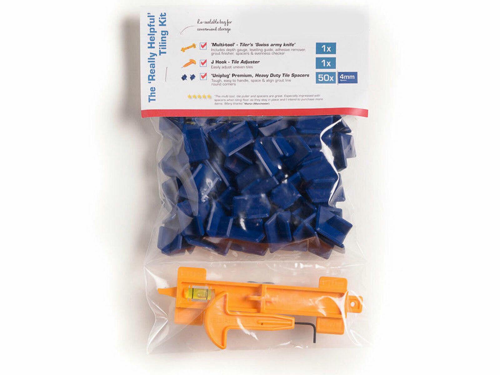 "Multi Niveau Tile Tracker 4 mm Carrelage Kit Inc 50pc Entretoises J Crochet /""MADE IN UK/"""