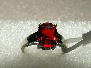 Edelstein-Ring-925-Silber-mit-GRANAT-CZ-Gr-6-NEU