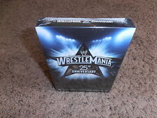 wwe WRESTLEMANIA 25 25TH ANNIVERSARY 3 dvd EXCLUSIVE W/64 PAGE BOOK brand new