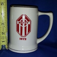 Vtg 1972 MERCY HOSPITAL Baltimore,Md MARYLAND POTTERY Coffee mug cup w/Gold Trim