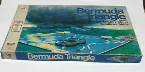 Vintage 1975 Milton Bradley Bermuda Triangle Game 100% Complete Excellent Box