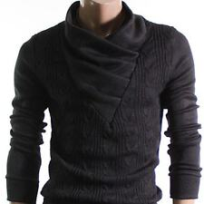 NEW Doublju Youstar Men Vneck Sweater Shirring Black US L