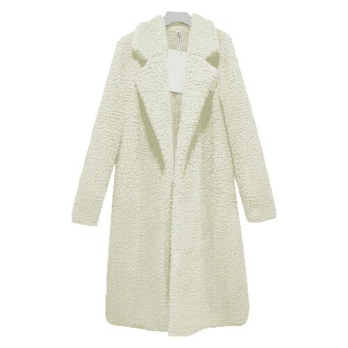 Women Lady Winter Warm Hooded Fluffy Long Coat Fleece Fur Jacket Outerwear Coat