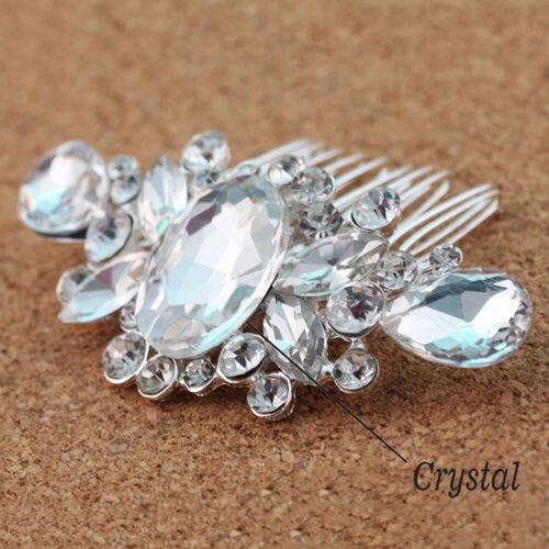 Bridal Wedding Crystal Flower Pearl Crystal Hair Combs Hair Pins Crown Accessory