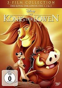 3-DVD-Box-Der-Konig-der-Lowen-Trilogie-1-2-3-Walt-Disney-NEU-amp-OVP