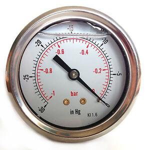 Vacuum-Gauge-S-Steel-case-Glycerine-filled-63mm-1-0-Bar-amp-30-Hg-1-4-BSP-Back