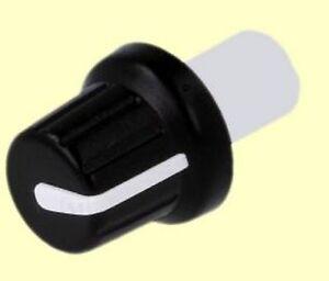 Knopf für Potentiometer Schwarz Anzeige Weiß Achse 6mm A Druck Steckbausteine