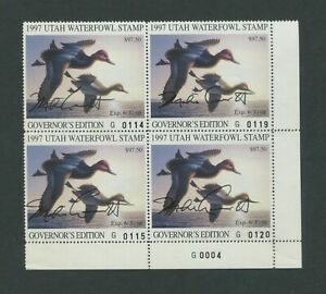 1997-Utah-Waterfowl-Hunting-Duck-Stamp-Governor-039-s-Edition-Artist-Signed-Scarce