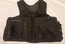 Black Covert Harness Covert Vest With Klickfast CS Cuffs Baton Pouch OCH01