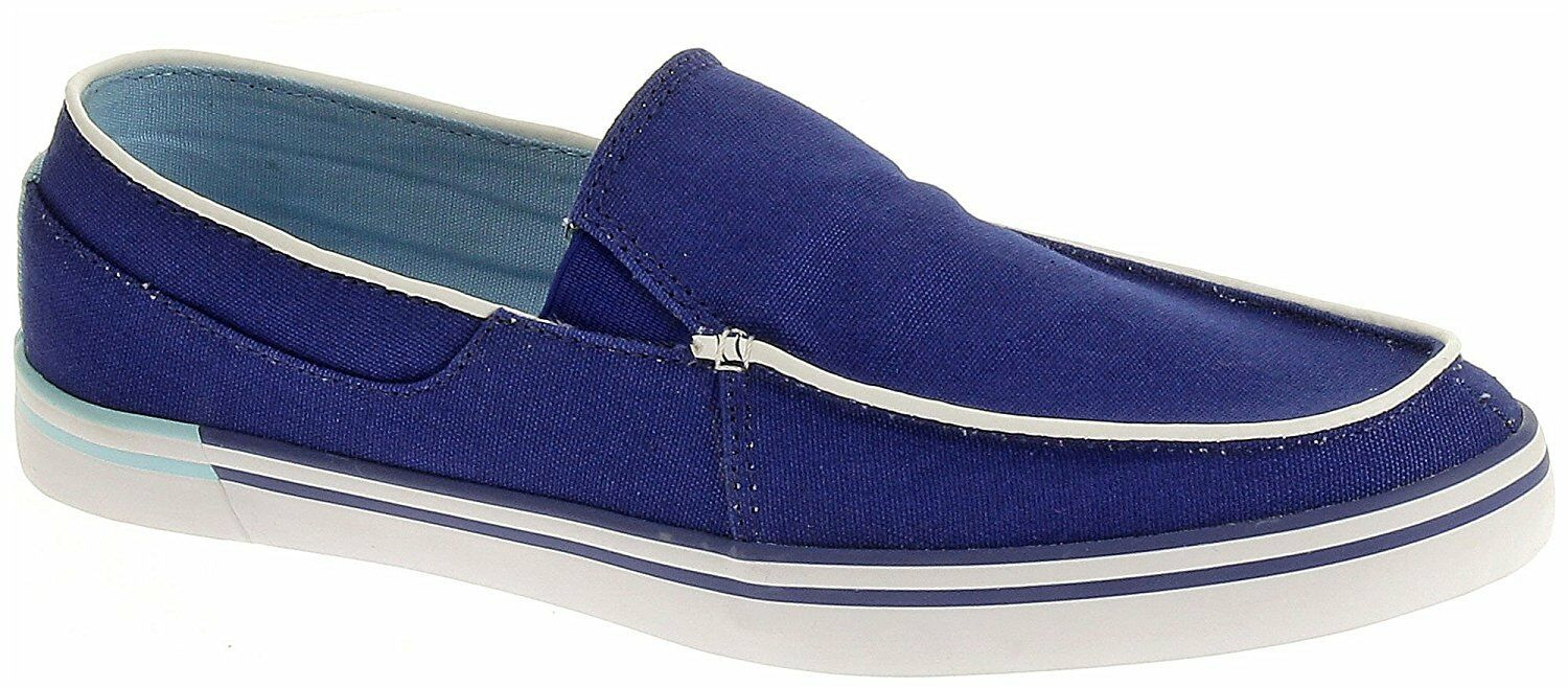Hush Puppies Men's Jase Slip on M01011-430 bluee Canvas Brand New In Box