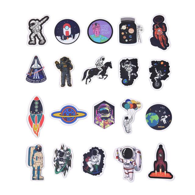 50pcs Spaceman Spaceport Skateboard Stickers Laptop Luggage Decals StickerJCA Nu