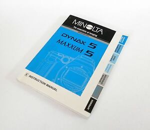 minolta dynax 5 maxxum 5 e instruction manual free uk post 1072 rh ebay co uk minolta dynax 5 user manual konica minolta maxxum 5d instruction manual