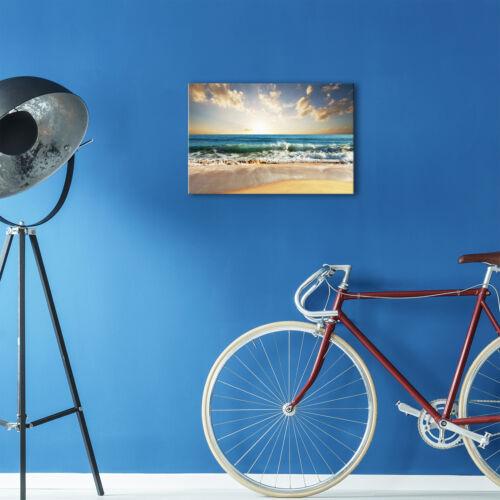 SC440 Ocean Beach Sunrise Nature Landscape Canvas Wall Art Large Picture Prints