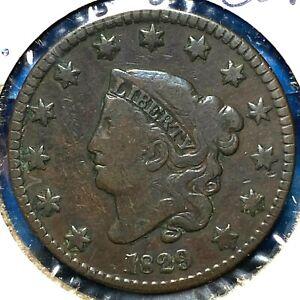 1829, Large Letters, 1C Coronet Head Cent (61377)