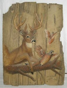 "George Turner ""Partners in Flight"" Relief Sculpture #1937/3000 hunting wildlife"