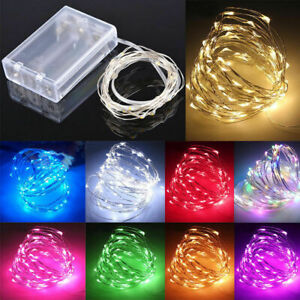 Waterproof-20-50-100-LEDs-String-Copper-Wire-Fairy-Lights-Battery-Powered-5M-10M