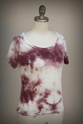 BRANDY MELVILLE ITALY One Size Fits S/M Soft Tie Dye Hippie Chic Micro-Rib Top