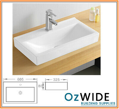Ceramic Basin Above Counter Narrow Design Powder Room ...