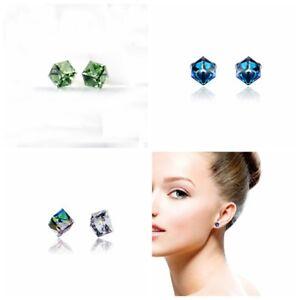 Mujer-Pendientes-de-boton-Aretes-cristal-colorido-joyeria-Ear-Stud-Earrings-hkh