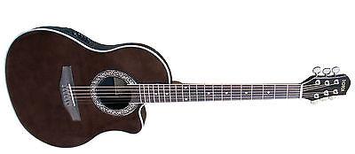 Roundback-Gitarre DC-EQ-4Band,mit schalloch/rosette, mitteltiefer Korpus,Kabel!n