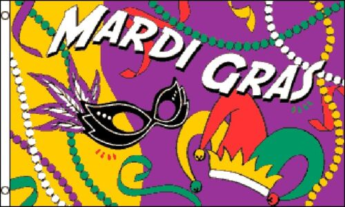 Mardi Gras Modern Party Banner 5/'x3/' Flag !