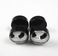 Nightmare Jack Skellington Stainless Steel Fake Ear Plug Stud Earrings