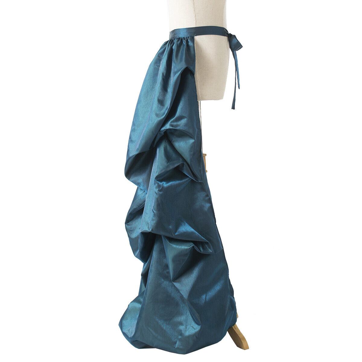 Vintage Victorian Edwardian Bustle Skirt Fancy Dr… - image 8