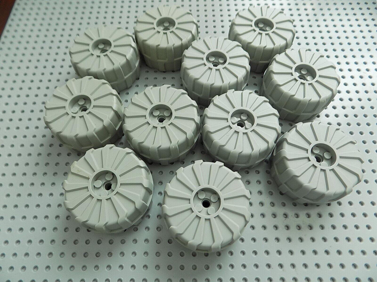 11 Lego la parte 2515 gris Claro Plástico Duro Rueda Grande (D. 54mm X 30mm) 10019