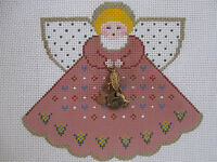 Handpainted Needlepoint Canvas Painted Pony Thanksgiving Angel Charm Pp-924