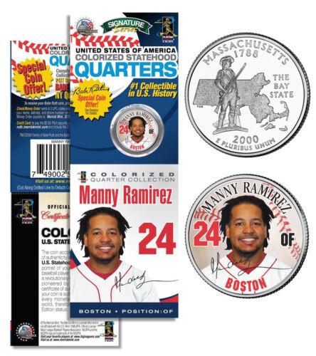 MANNY RAMIREZ Boston Red Sox Massachusetts Statehood Quarter Coin in Packaging