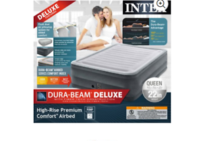 "Intex 22/"" Queen Comfort Plush High Rise DuraBeam Airbed Mattress"