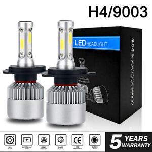 2x H4 HB2 9003 285000LM 1950W LED Headlight Kit Hi/Lo Beam Bulb High Power 6000K