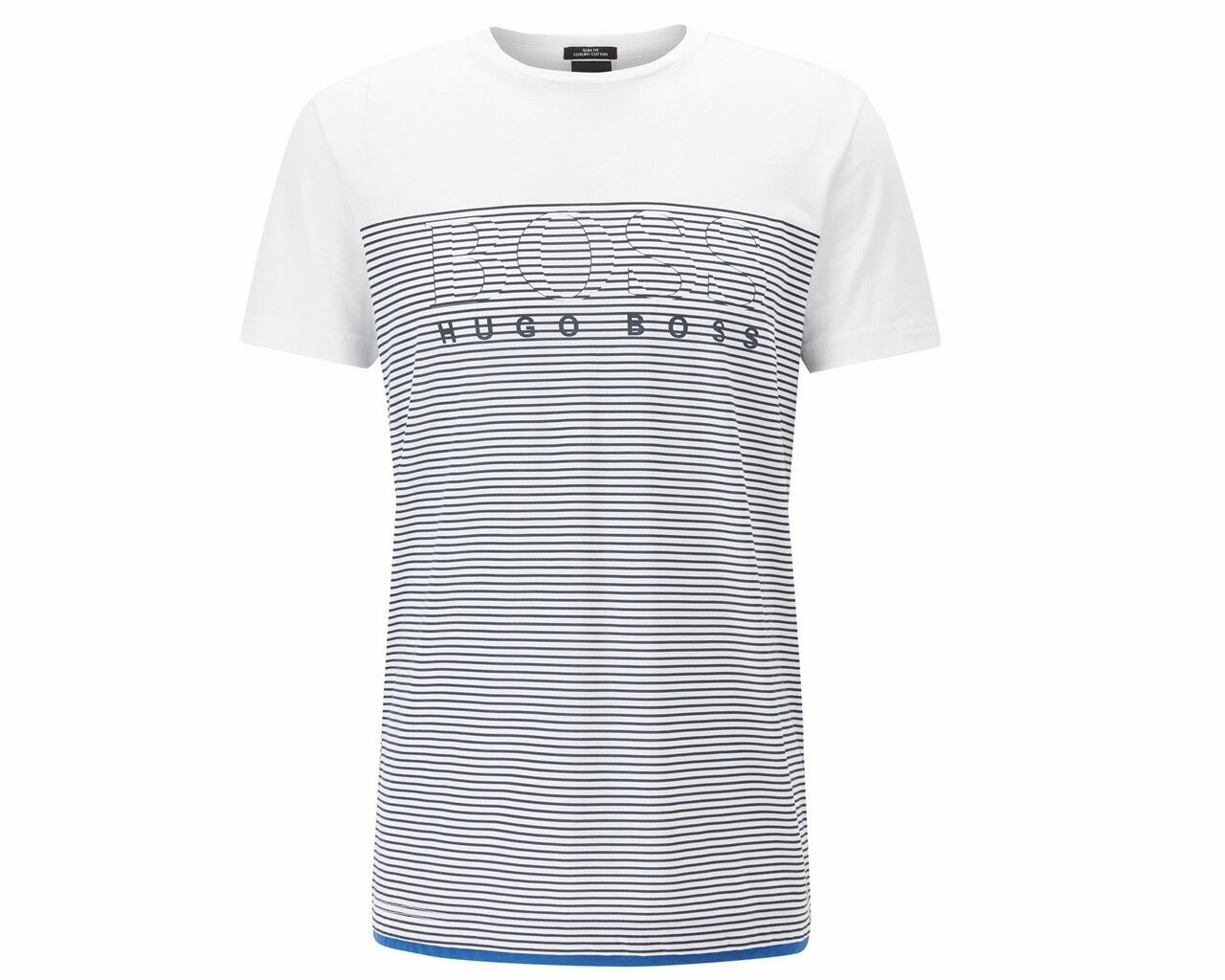 Hugo Boss schwarz Teep 11 50384082 100 kurzärmelig Herren T-Shirt weiße
