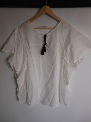 50 weiß kurzarm bpc bonprix Bluse