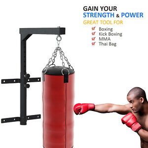 Wall-Mount-Heavy-Bag-Hanger-Punching-Bag-Stand-Boxing-Bracket-Steel-Black