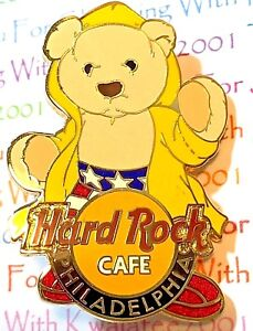 Hard Rock Café Industrious Hard Rock Cafe Philadelphia Rocky Pin Herrington Teddy Bear Series 2005 Le New To Have Both The Quality Of Tenacity And Hardness Artist