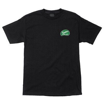 Creature EMBROIDERED HESH LIFE Skateboard T Shirt BLACK XXL