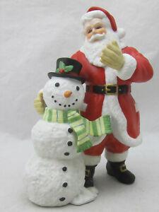 Lenox-1999-Limited-Edition-Santa-Claus-w-Snowman-7-034-Fine-Porcelain-Figurine