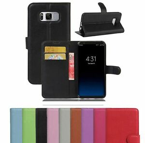 Real-Genuine-Leather-Flip-Wallet-Case-Cover-For-Samsung-GalaxyS8-S9-S8-S9-2018