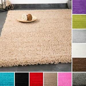 D-039-un-epais-shaggy-tapis-moderne-facile-d-039-entretien-florhohe-unicolore-top-prix