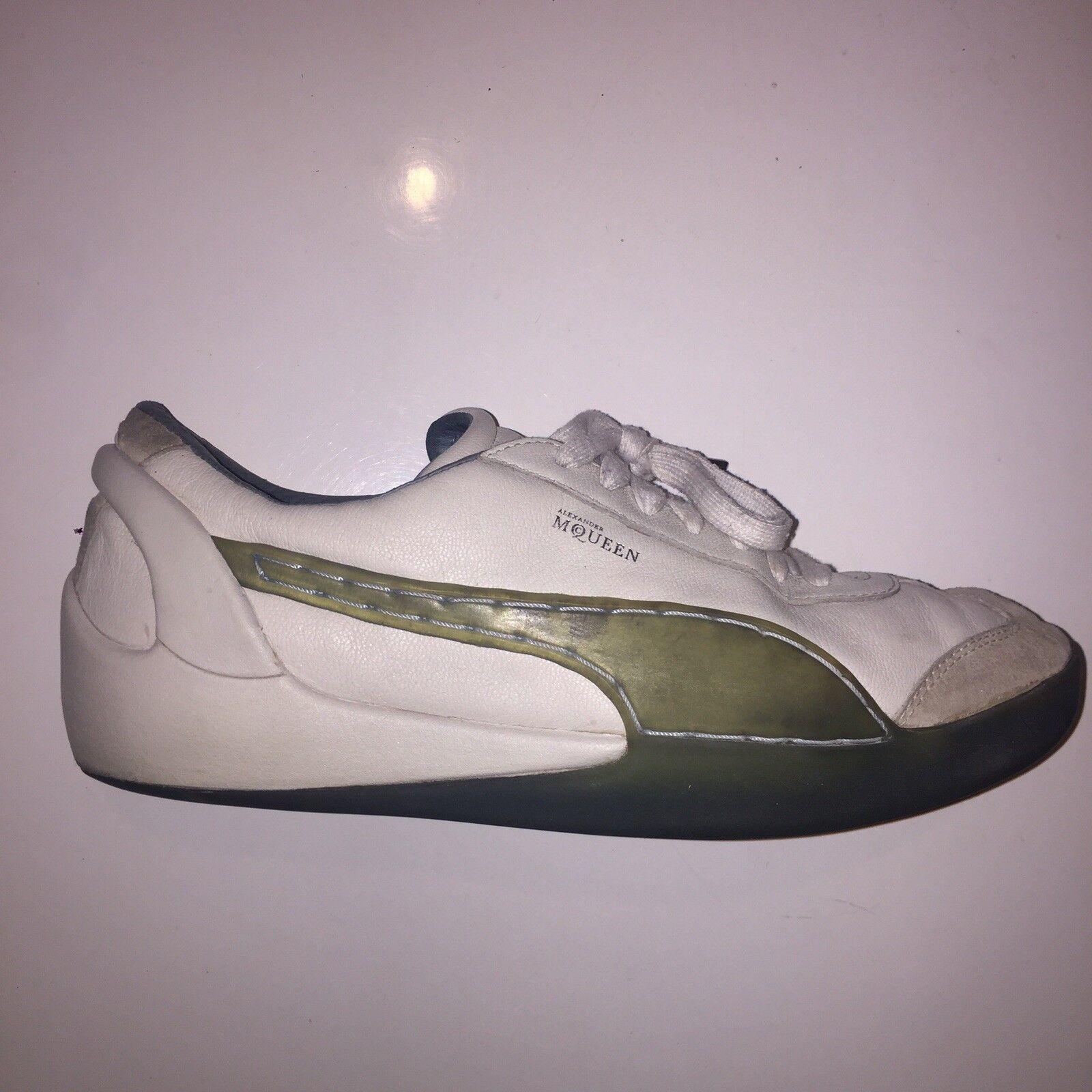 Alexander McQueen para hombre Puma blancoo Zapatillas Zapatos Talla 10