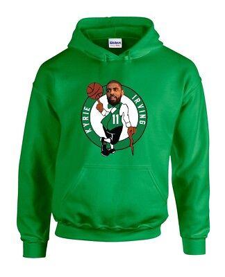 "Kyrie Irving Boston Celtics /""AIR PIC/"" jersey shirt Hooded SWEATSHIRT"