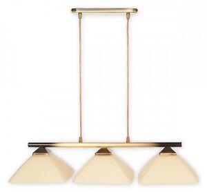PENDANT-3-LIGHT-CEILING-RETRO-DARK-GOLD-amp-CREAM-GLASS-CROSS-KITCHEN-DINING