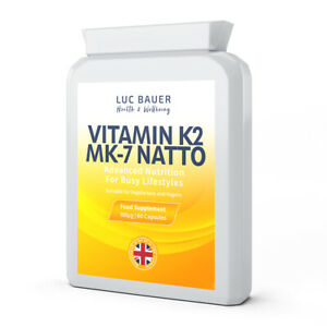 Vitamin-K2-MK-7-Natto-100-g-60-Capsules-Reduced-to-Clear-Expires-October-2020
