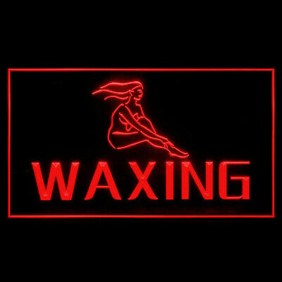160011 WAXING Women Salon Beauty Flawless Hair Removal Painless LED Light Sign
