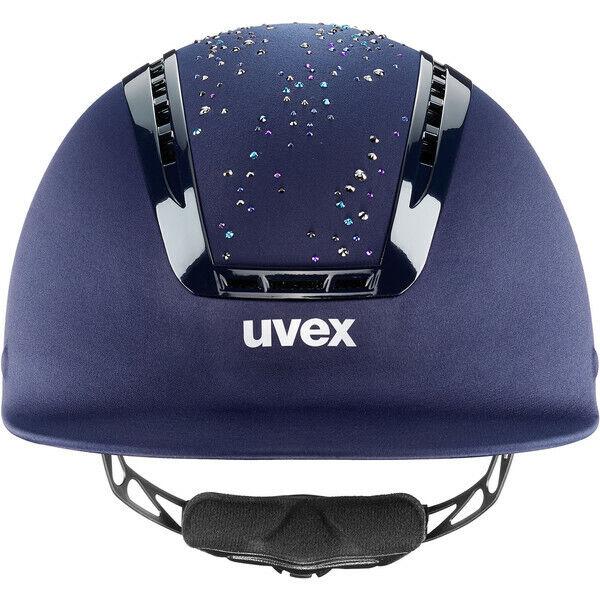 Uvex Suxxeed Glamour Blau diamond  Reithelm Dressurhelm