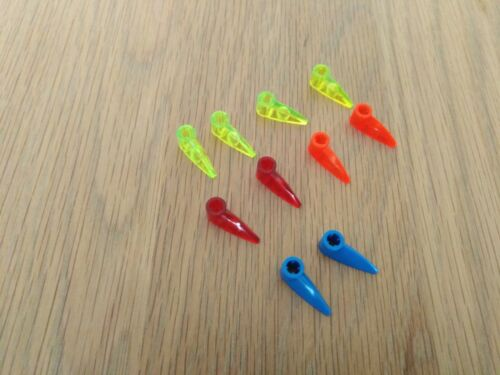 TEETH various colours 2x LEGO BIONICLE TECHNIC 1x3 WITH AXLE HOLE FOOT