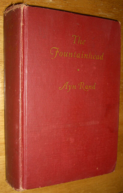The Fountainhead by Ayn Rand First Edition Author of Atlas Shrugged 1943