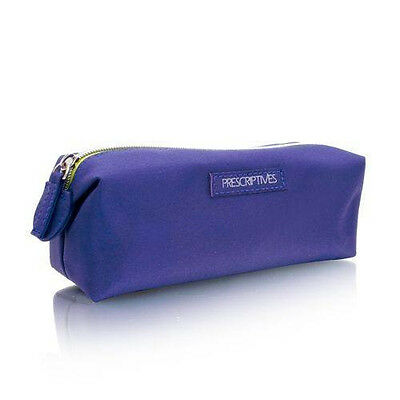 Prescriptives Purple Cosmetic Bag Makeup Bag, Sleek and Great for Travel, Zip